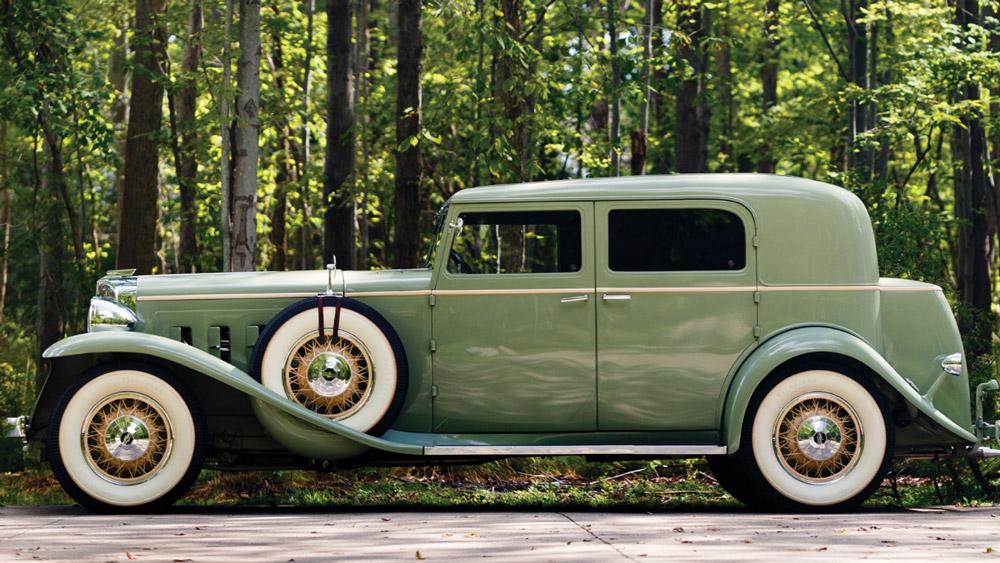 A 1932 Marmon Sixteen Close-Coupled sedan.