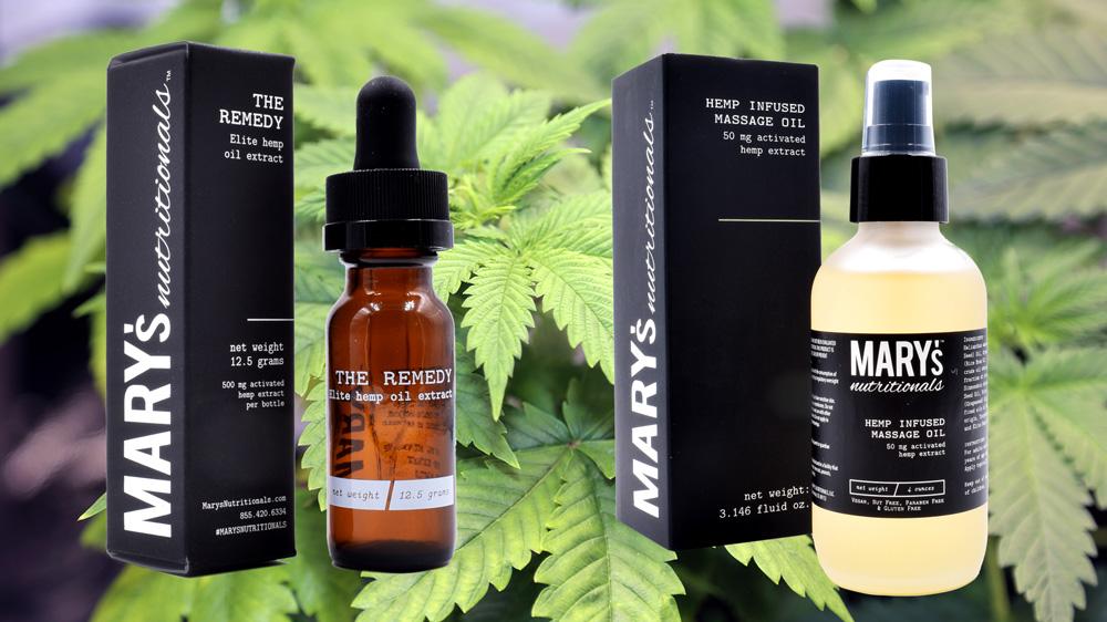 Marijuana plants, CBD products