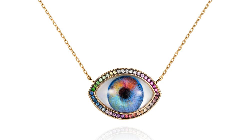 Noor Fares Personalized Eye pendant