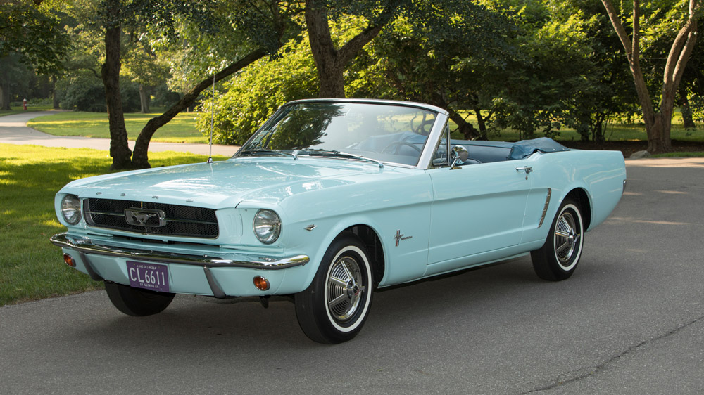 The first Ford Mustang sold.