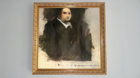AI portrait Edmond de Belamy Christie's