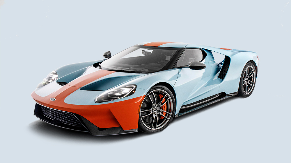 The new 2019 Ford GT Heritage Edition.