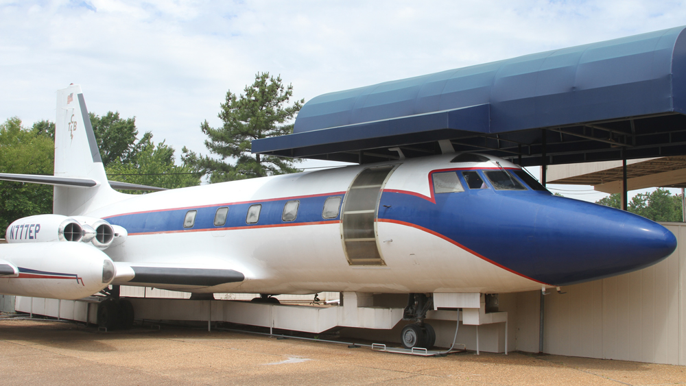 Elvis Presley Lisa Marie plane at Graceland