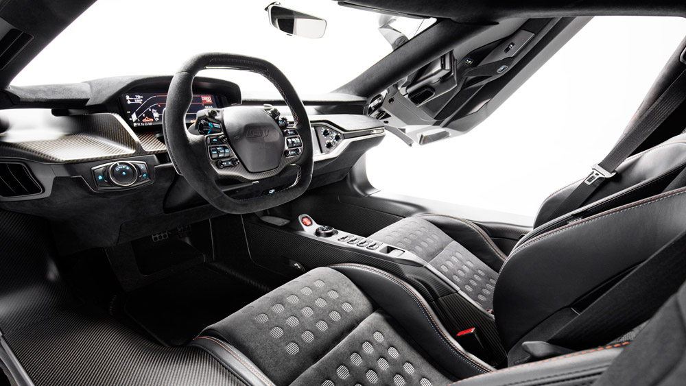 Inside the 2019 Ford GT Heritage Edition.