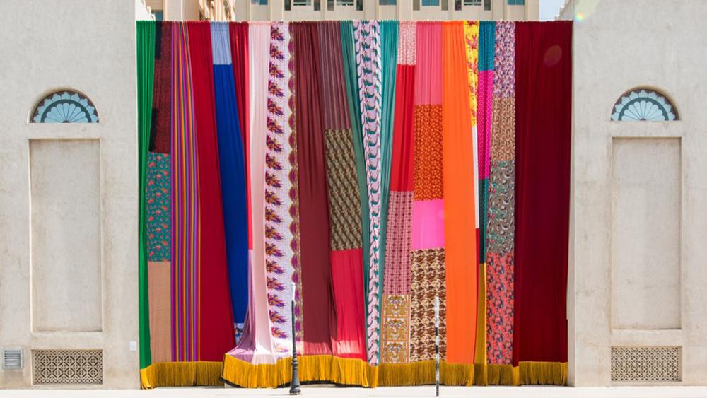 Joe Namy, Libertto-o-o A Curtain Design in the Bright Sunshine Heavy with Love, 2017
