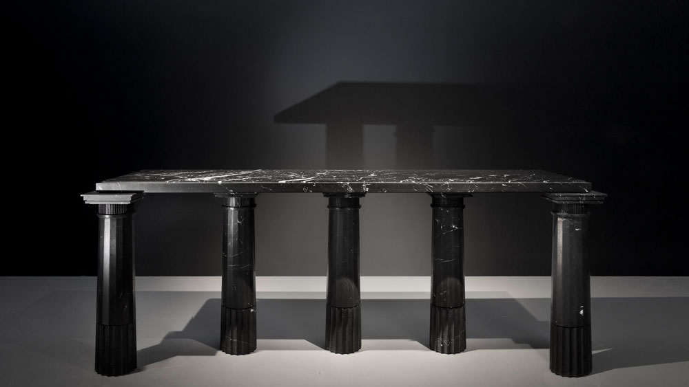 marble table by Karl Lagerfeld