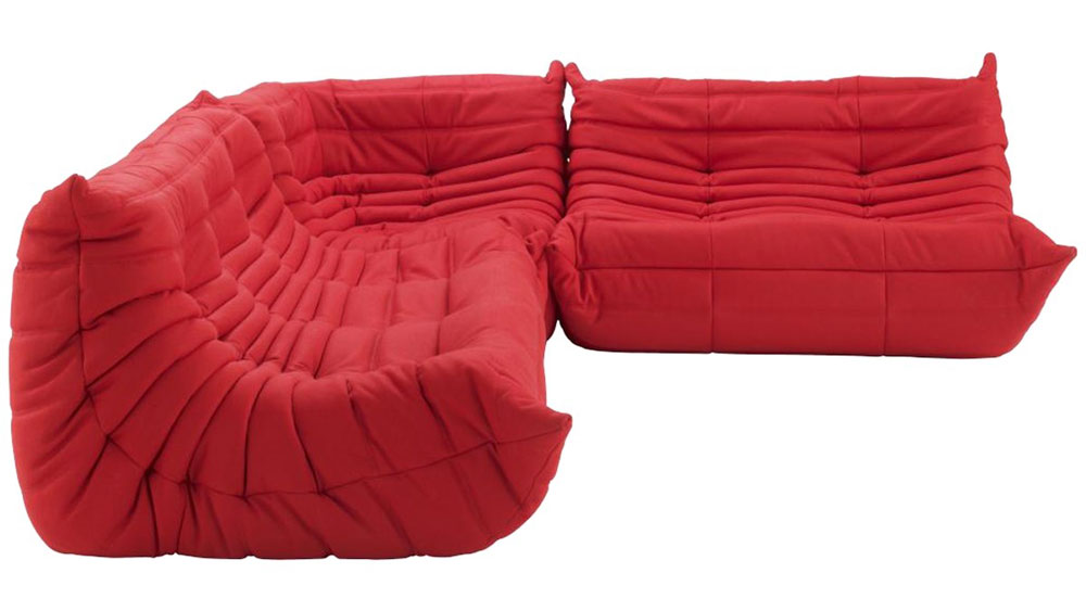 Red Ligne Roset sofa
