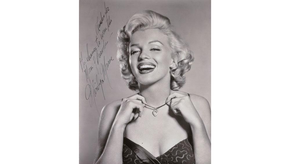 Autographed Marilyn Monroe photograph