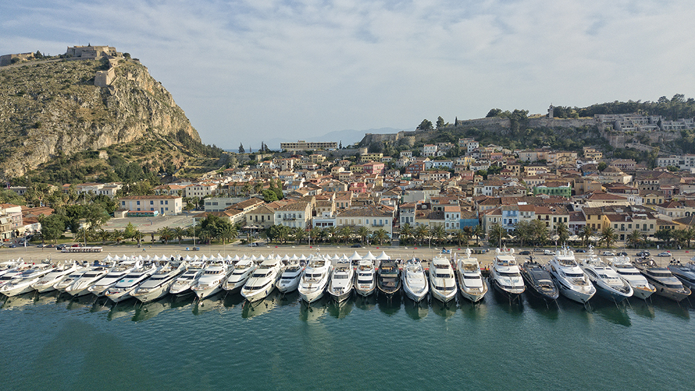 The Mediterranean Yacht Show presented by the Greek Yachting Association in Nafplion, Greece.