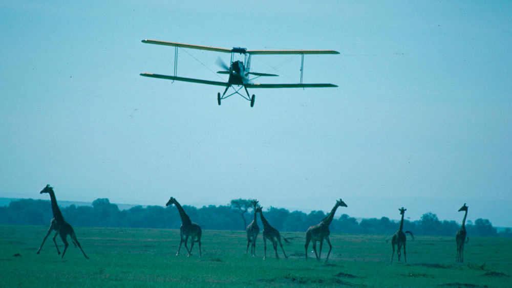 Out of Africa biplane