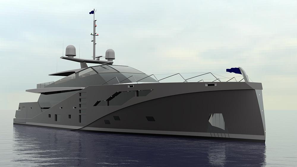 Peter Bolke Project Stealth 46m Anti-radar vessel.