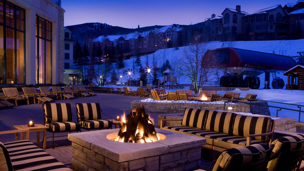 Park Hyatt Beaver Creek fireplace