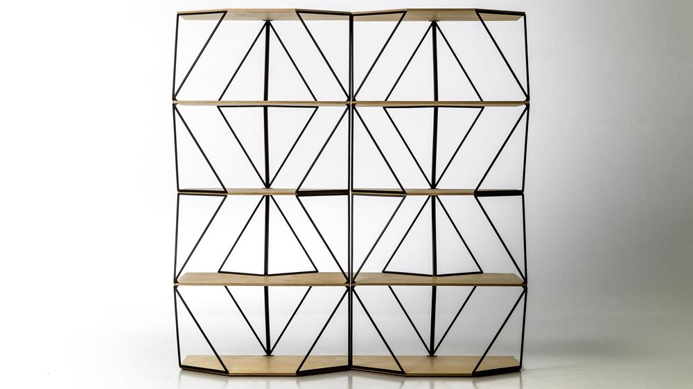 Green Light shelves Olafur Eliasson