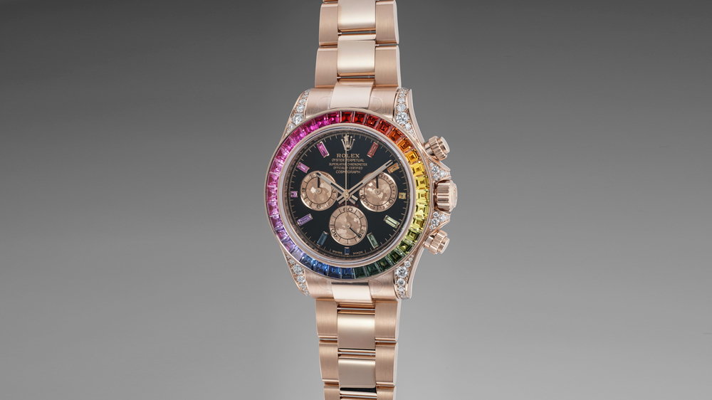 "Rolex ""Rainbow"" Daytona reference 116595"