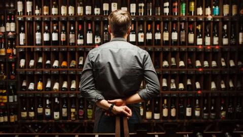 Sommelier wine bottles