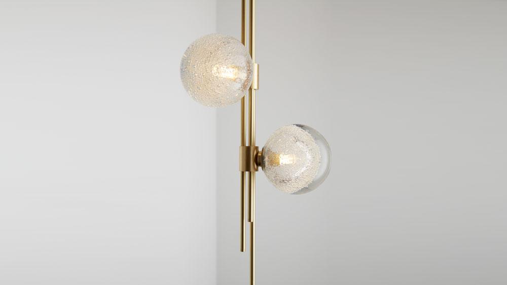 glass and brass lighting