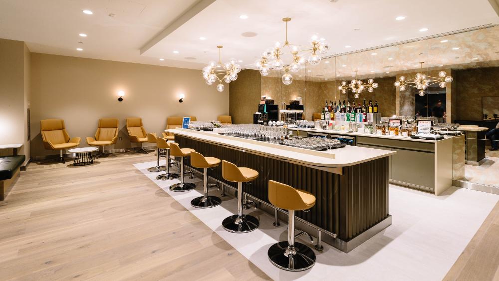 British Airways' First Lounge bar