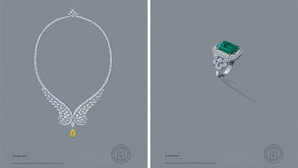 Harry Winston New York Collection sketches