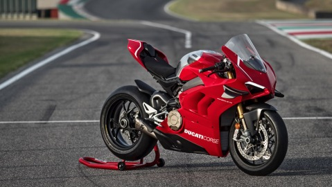 The Ducati Panigale V4 R motorcycle.