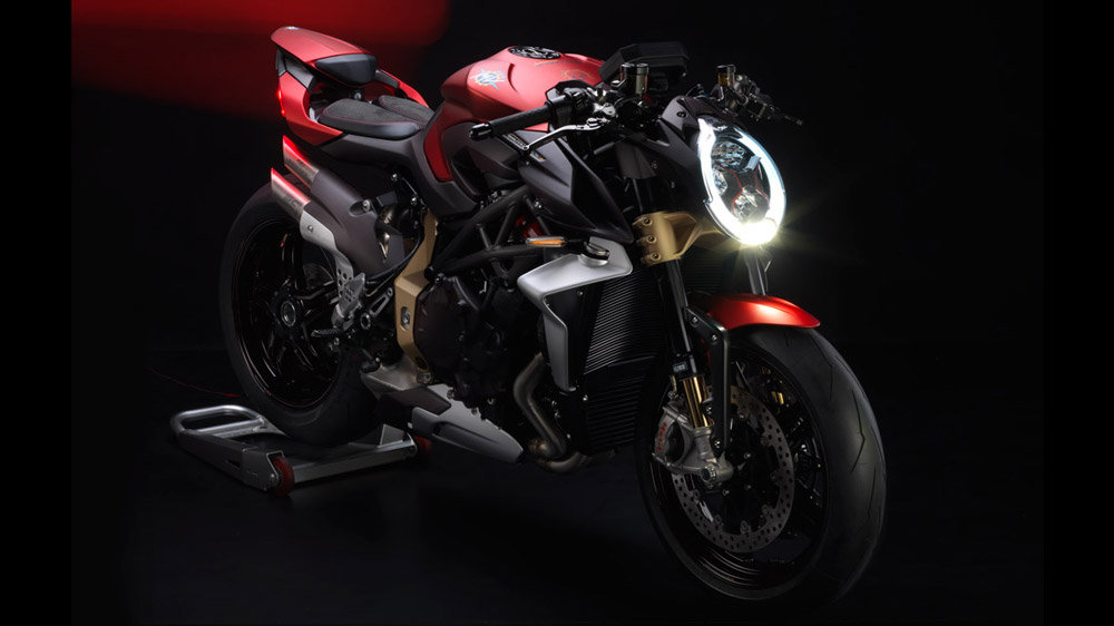 The MV Agusta Brutale 1000 Serie Oro motorcycle.