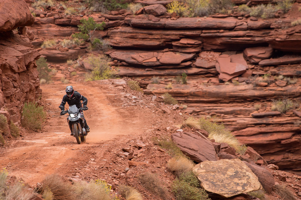The BMW F 850 GS in Moab, Utah.