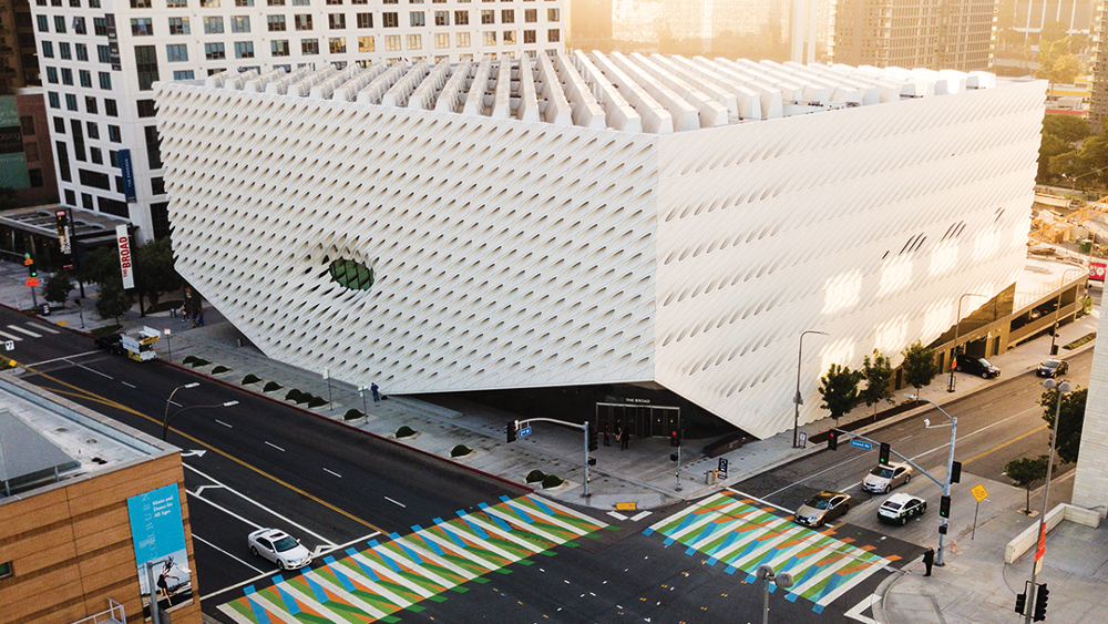 The Broad museum exterior