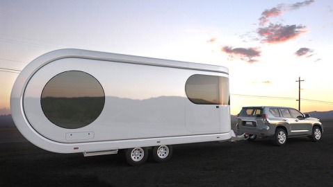 The Romotow camper trailer.