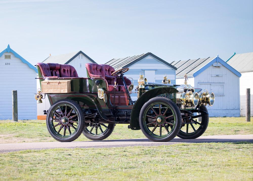 A 1903 Darracq 24 hp Model JJ Rear-entrance Tonneau.