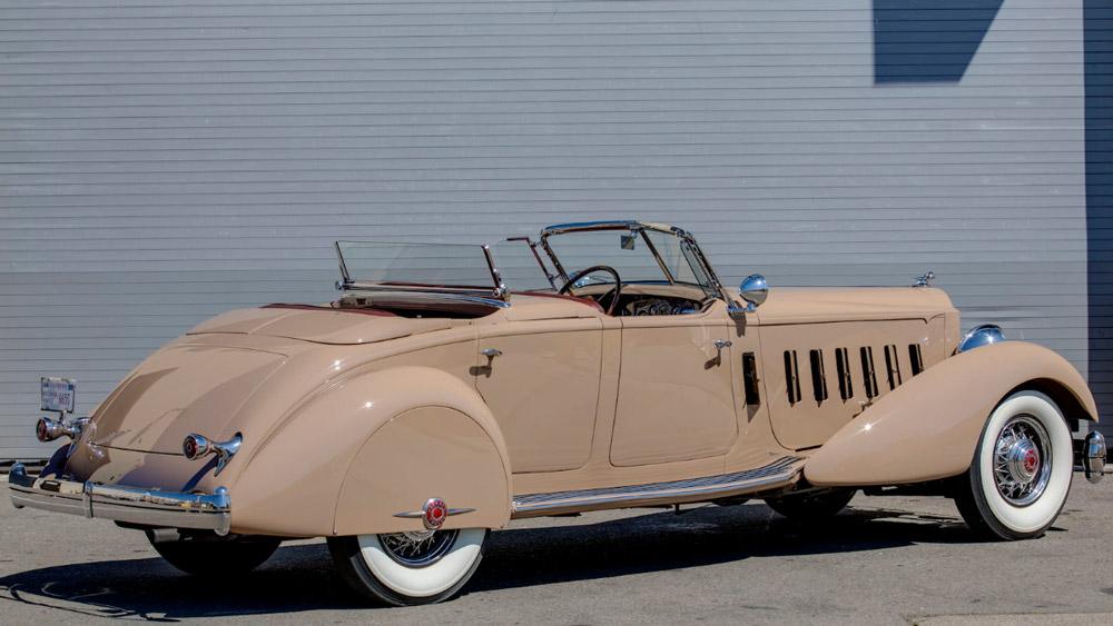 A 1934 Packard 1108 V-12 Sport Phaeton.