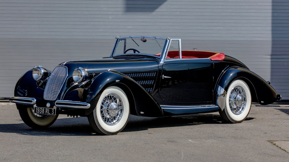 A 1938 Talbot-Lago T120 Roadster.