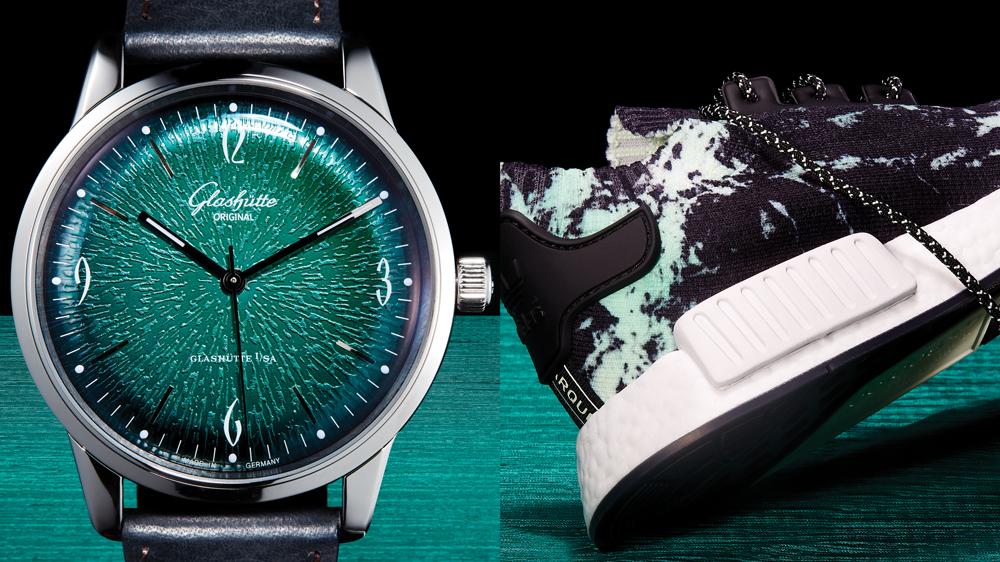 Glashütte watch Adidas Originals sneakers