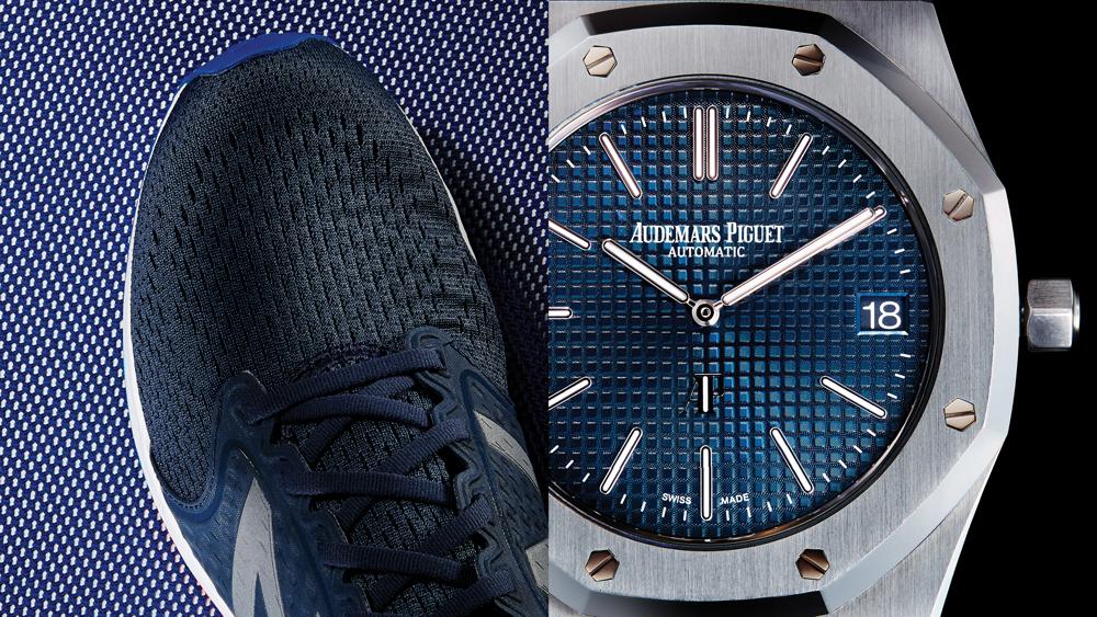New Balance sneakers Audemars Piguet watch