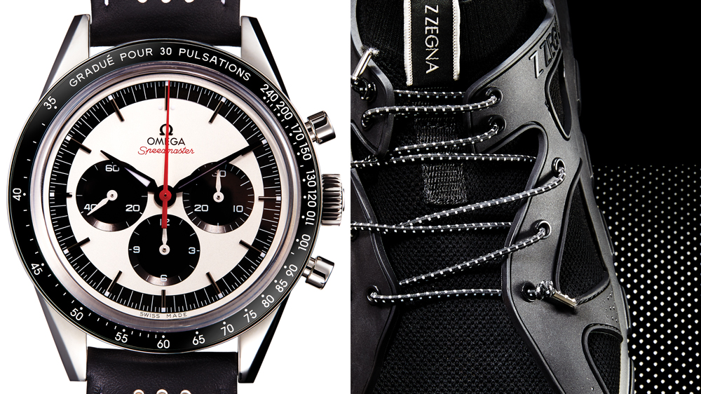 Omega watch Z Zegna sneakers
