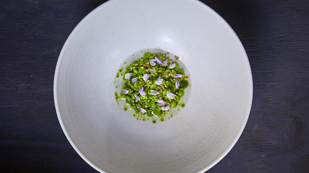 Aska clams peas