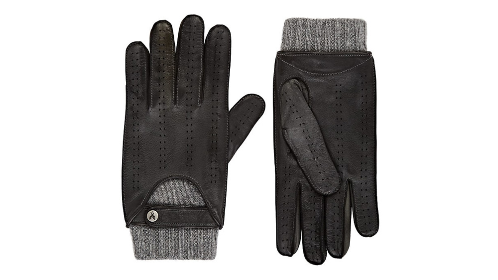 Christophe Fenwick Le Mans Cashmere-Lined Leather Driving Gloves