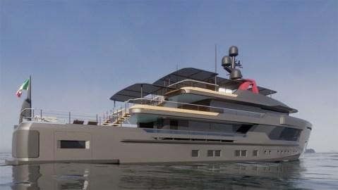 CRN AlfaRosso 45mt Explorer Yacht, designed by Francesco Paszkowski.