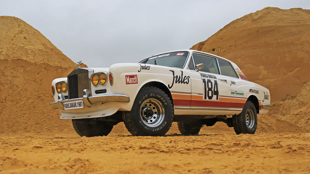The Rolls-Royce Corniche that ran in the 1981 Paris-Dakar Rally.