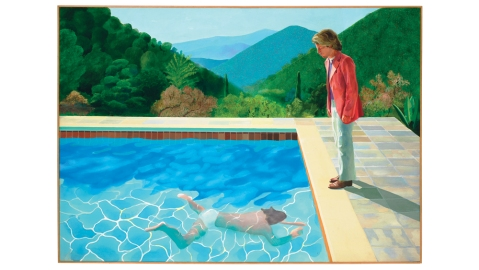 David Hockney Portrait of an Artist (Pool with Two Figures)