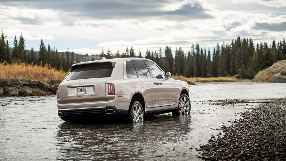 The Rolls-Royce Cullinan sport utility vehicle in Wyoming.