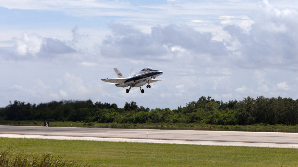 NASA F-18 jet testing low-boom supersonic system