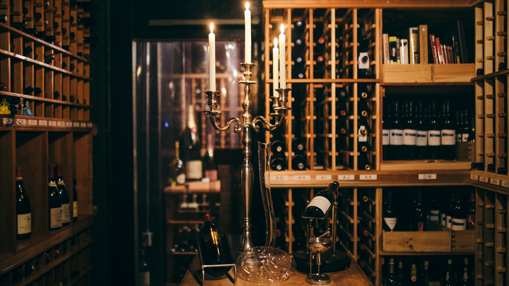 Maple & Ash Wine cellar