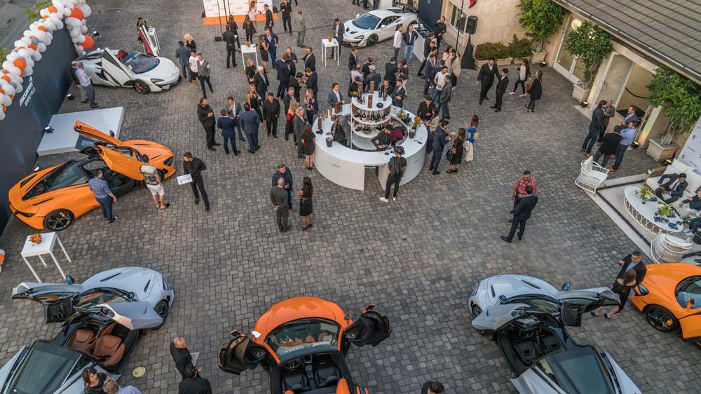 O'Gara Beverly Hills celebrates grand opening as a McLaren delership in May, 2018.