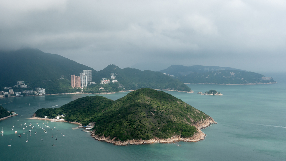 Hong Kong, China: Remote view of Middle Island; Shutterstock ID 1145824571