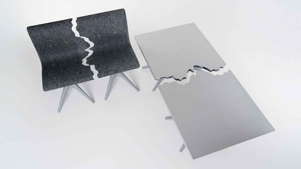 Pentatonic x Snarkitecture Bench and Table