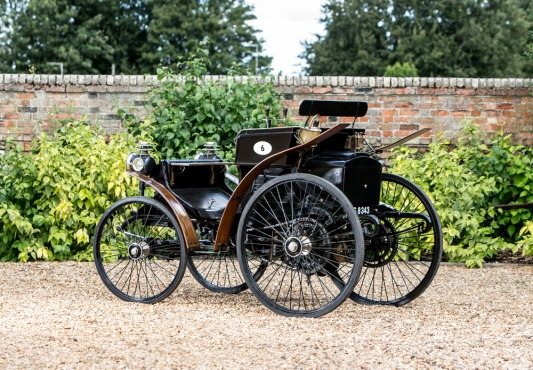 An 1894-5 Peugeot Type 5 2½ hp Twin-cylinder Two-seater.