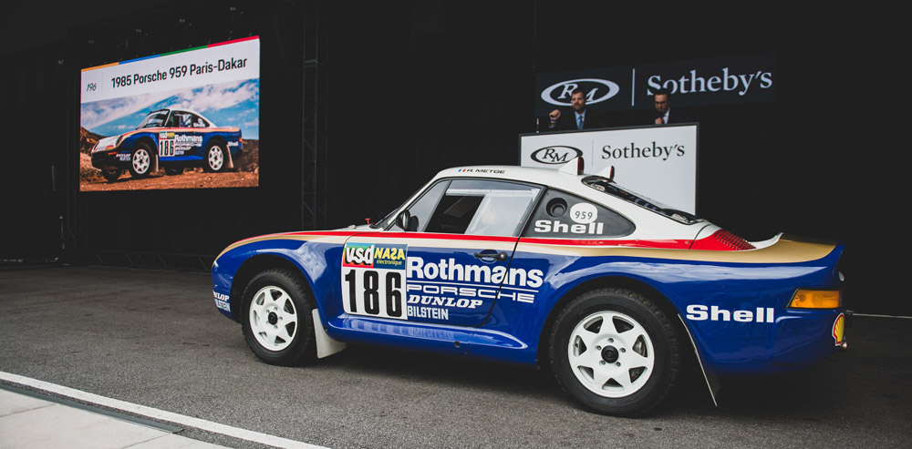 The all-wheel-drive Porsche 959 that sold for $5.95 million through RM Sotheby's.