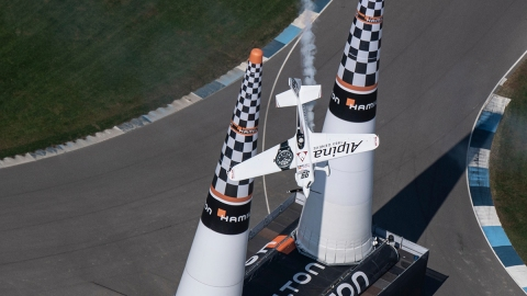 Michael Goulian performing at the Red Bull Air Race World Championship