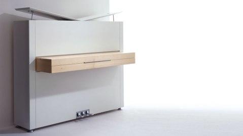 Modern white piano