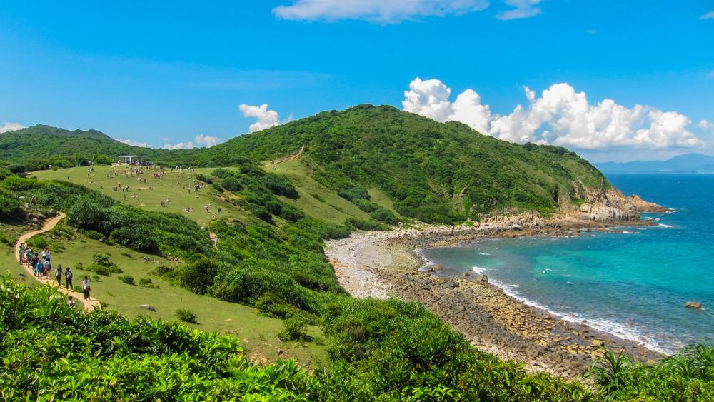 Tap Mun with blue sky, Hong Kong; Shutterstock ID 1105843565