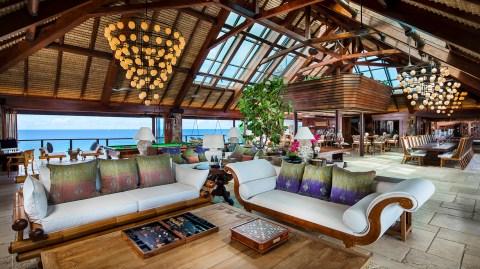 Beach resort in the Caribbean Necker Island